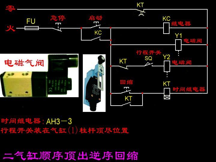 控制两个气缸s轴先工作.在y轴工作.在y轴先退.在退s轴.怎么接线图片