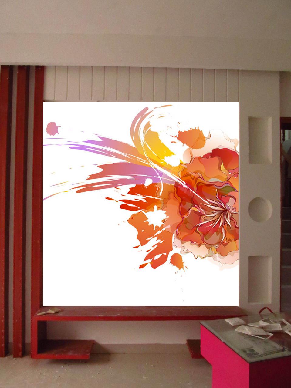 求助背景墙配色方案,包木条的这张图片是客厅的背景墙图片