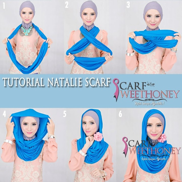 how to wear a scarf on your head islam