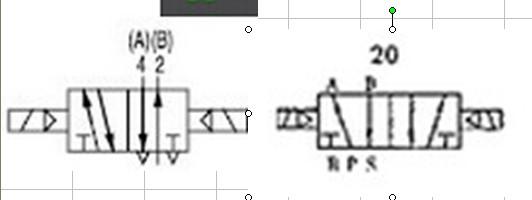 67请问这两个都是两位五通电磁阀符号吗?有区别吗?图片