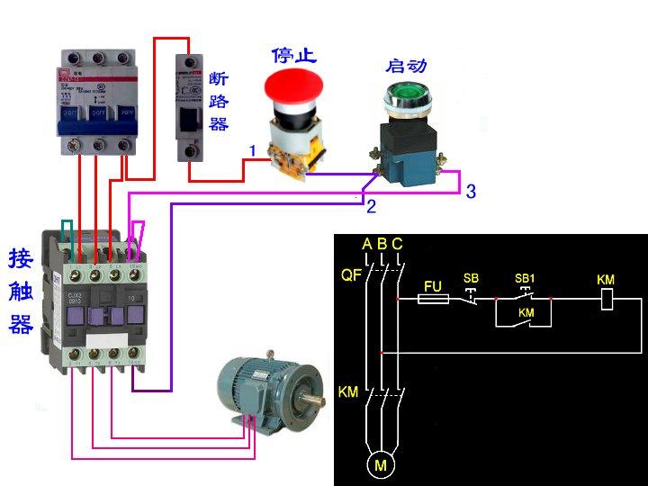 三相电机接线图 三相电机接线图实物 电工接线电路图大全 三相异步电图片