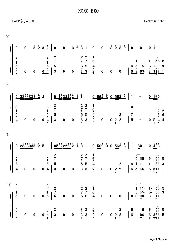 钢琴简谱数字图片