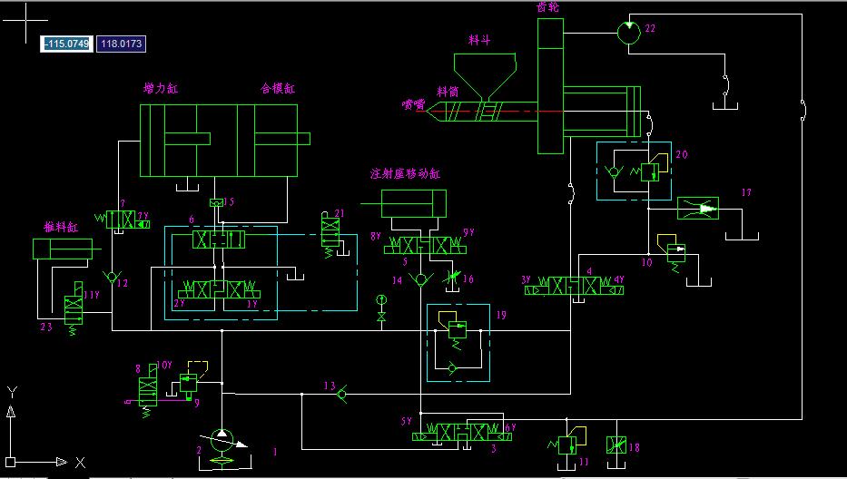 怎样读懂注塑机液压原理图 2013-12-03 谁有立式注塑机液压原理图图片