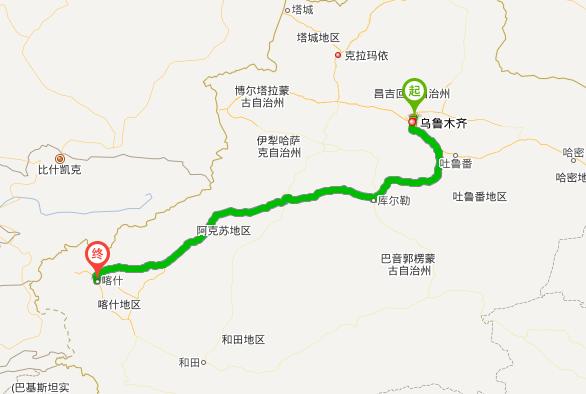 乌鲁木齐开车到喀什