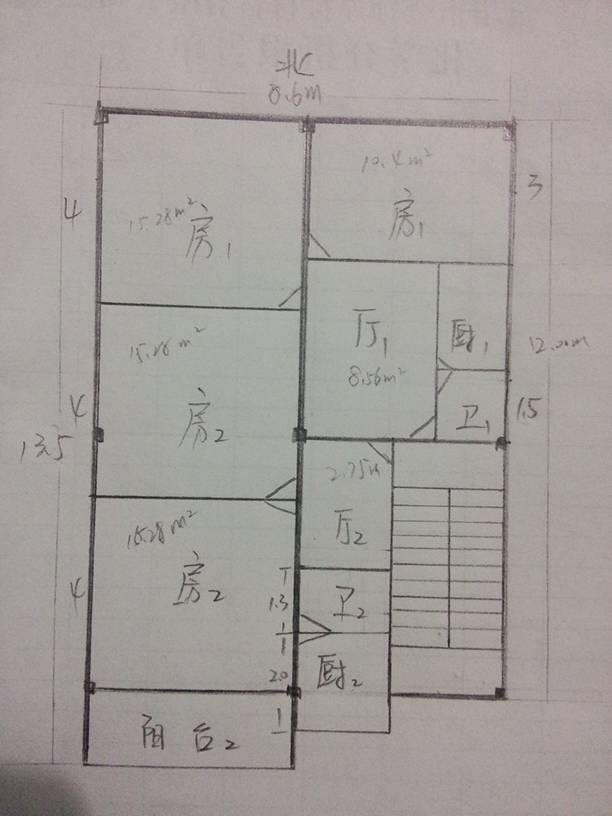 农村110平米设计图-农村自建二层别墅图片_90平方米房屋设计图_120图片