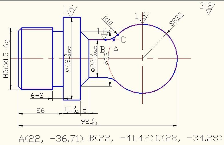 数控车床编程求助. 有图的 就下图.那位师傅可以帮忙编个程序. 导程2.图片