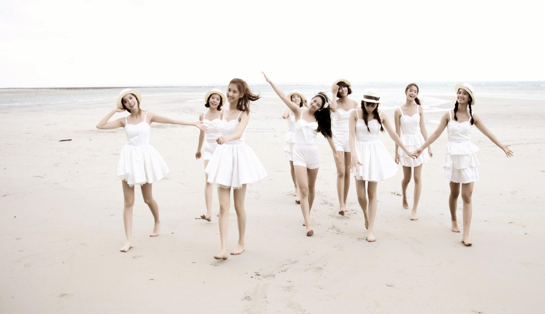 少女时代少女海边比基尼比基尼美女