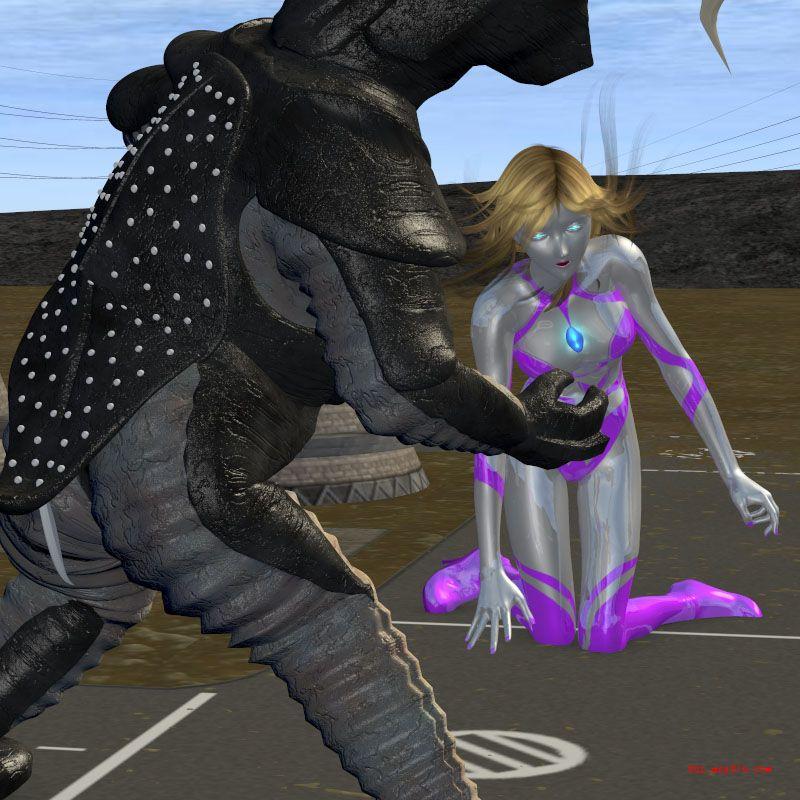 女奥特曼苍月战士 女奥特曼大战触手怪兽 奥特之母和泰罗h图片