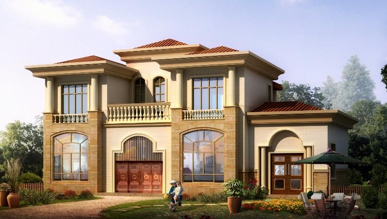 在做法建二层长24米宽13米的别墅农村大概要钱?望一座瓦片别墅图片