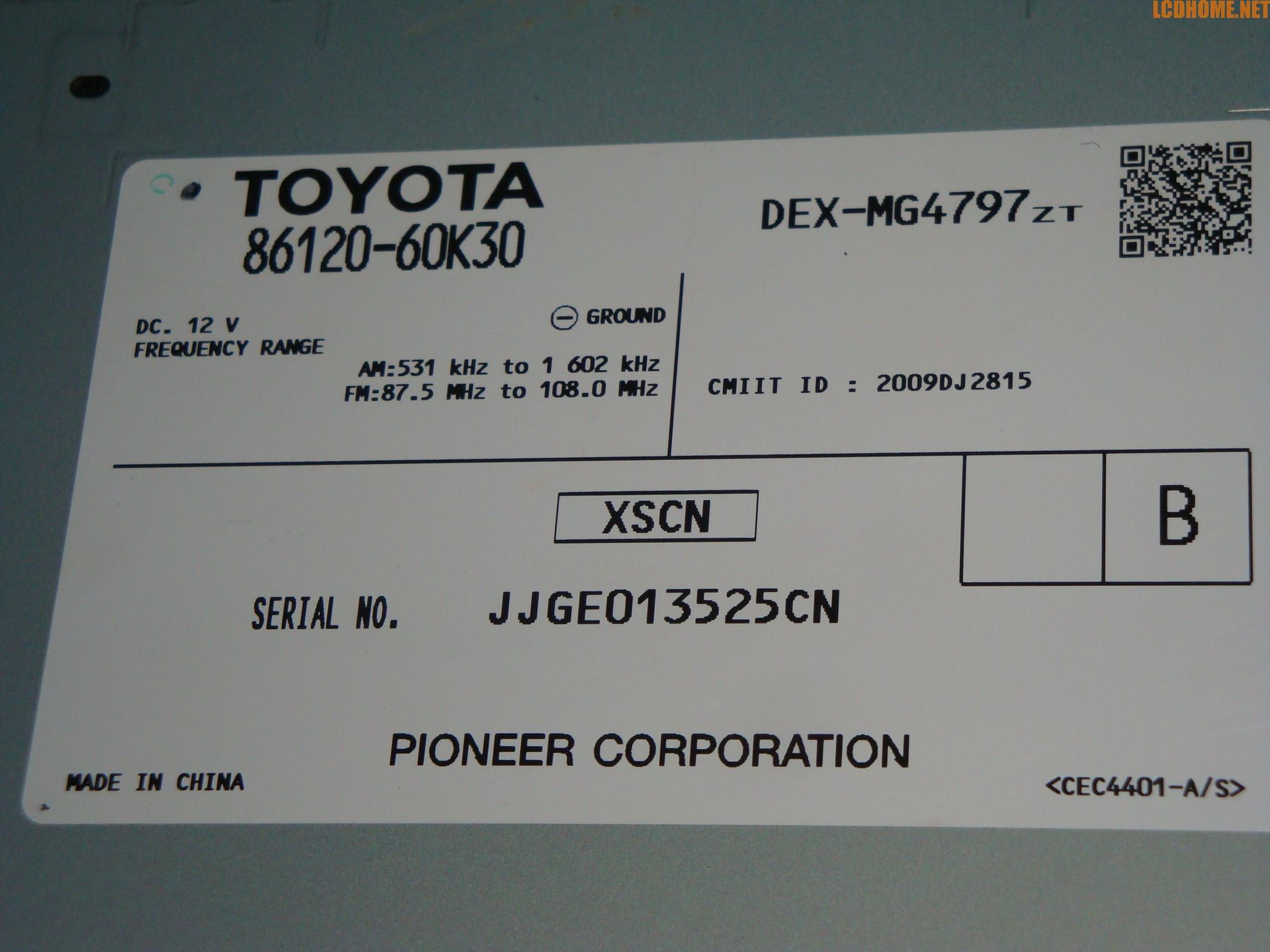 求解丰田霸道原装cd机接线图 机盒型号86120 60k30 高清图片