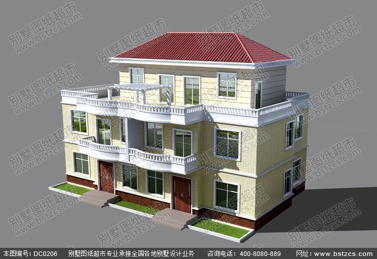 农村两层别墅设计图