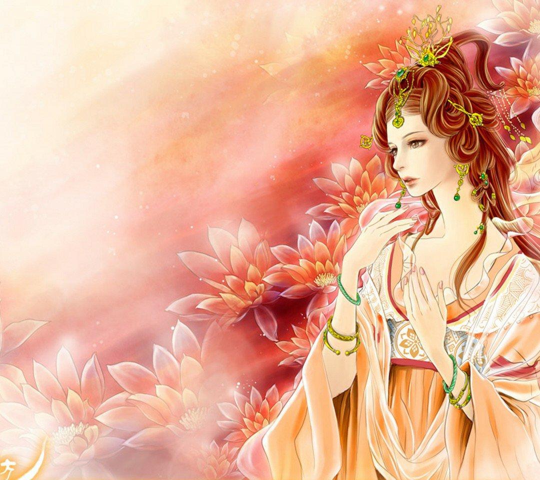 求好看的古代动漫美女图片做壁纸图片
