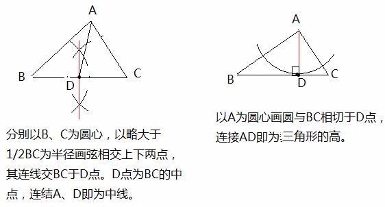 三角形高线用尺规作图