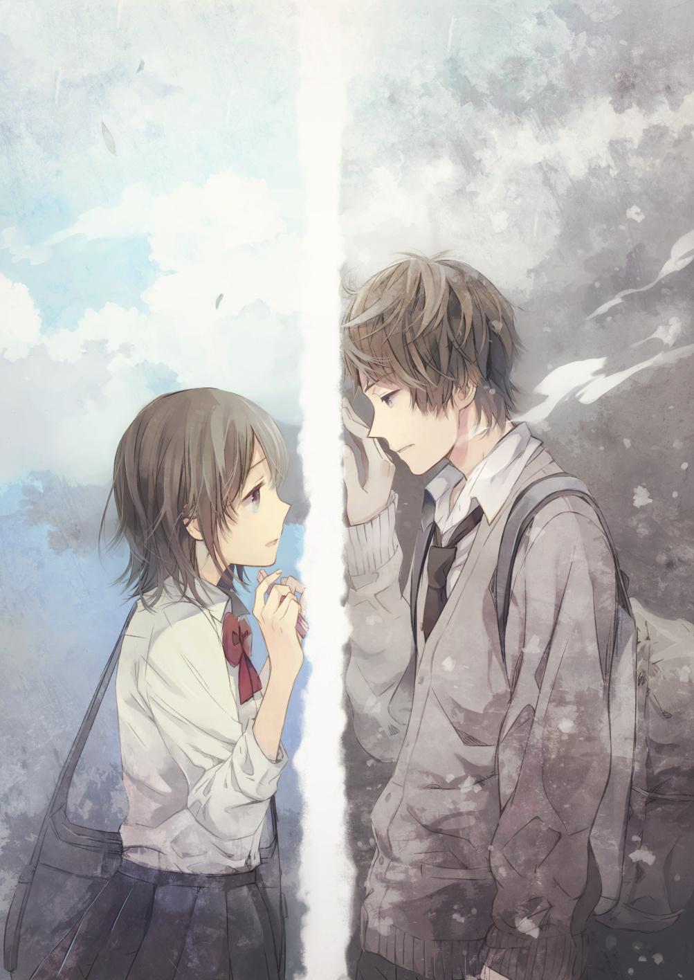 Anime Couples Breaking Up Tumblr 求几张唯美有意�...