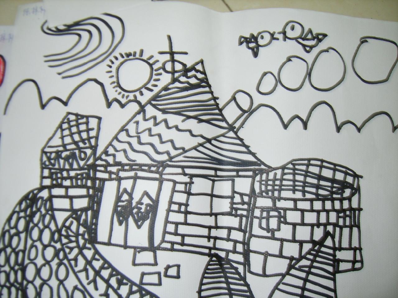 那里有小学生画的家乡图小学实验颐和招生图片
