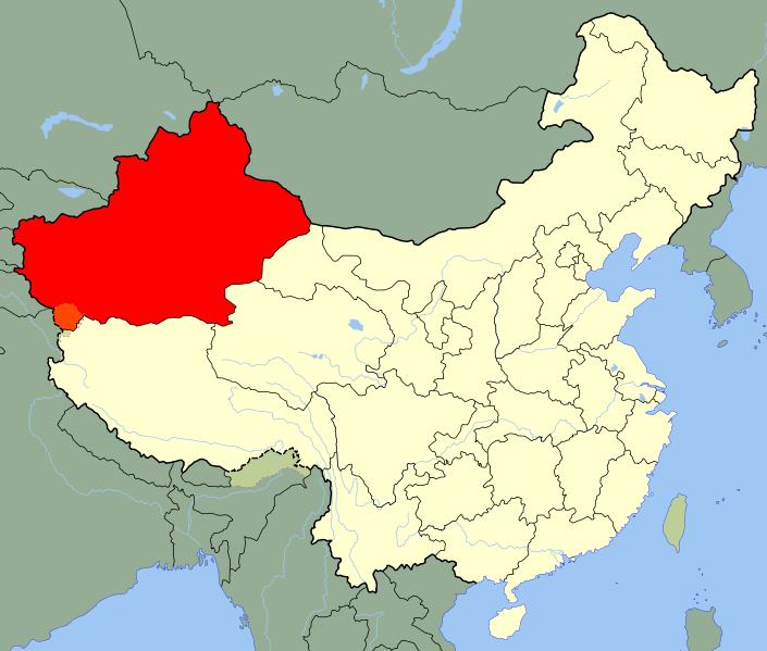 北疆为中温带,受西风带影响,降水稍多.南疆为暖温带,降水稀少.图片