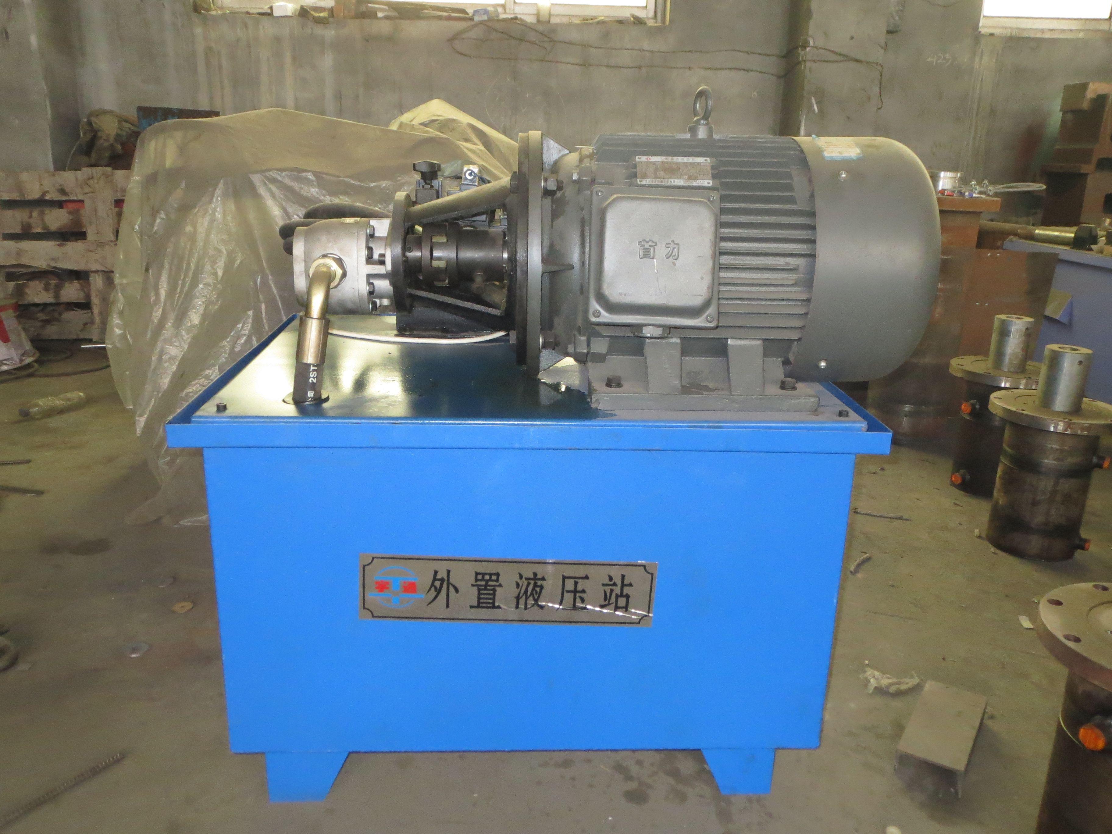 液压站制作需要关键部位:液压泵,电机,电磁阀,溢流阀等等.图片