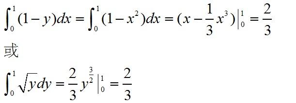 y_曲线y=x2 x=0 y=1所围成的图形的面积可用定积分表示为