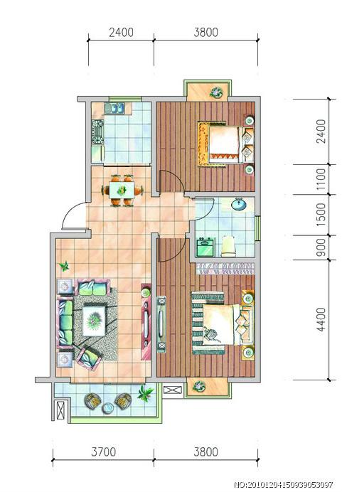 两室两厅一厨一卫,改三室一厅,高层使用面积70,怎样改比较好(图15)