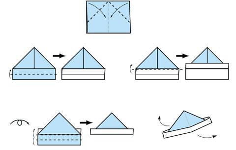 纸帽子怎么折图片