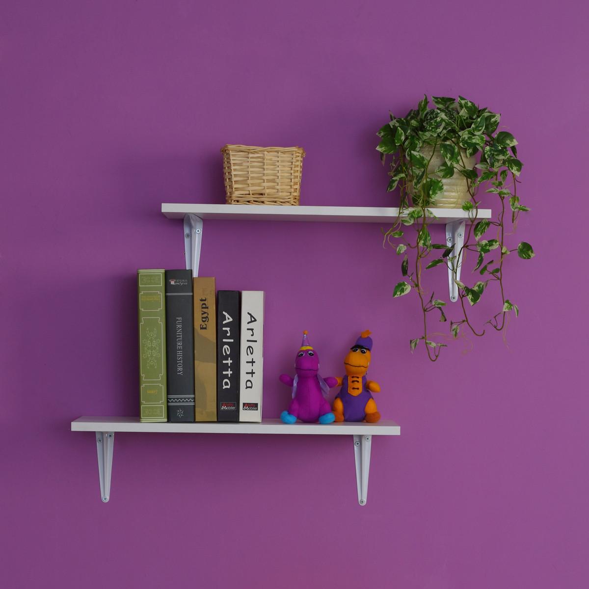墙上钉照片图片大全 在网上买这种简易书架钉在墙上