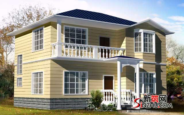 农村20万别墅设计图 20万农村9x9米小复式二层半带露台别墅平面设计