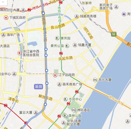 杭州地铁1号线线路图 杭州地铁1号线价格 杭州地铁1号线近江图片