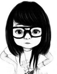 短发戴眼镜的动漫女孩图片 高清图片