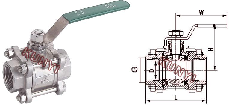 内螺纹球阀的标准规范图片