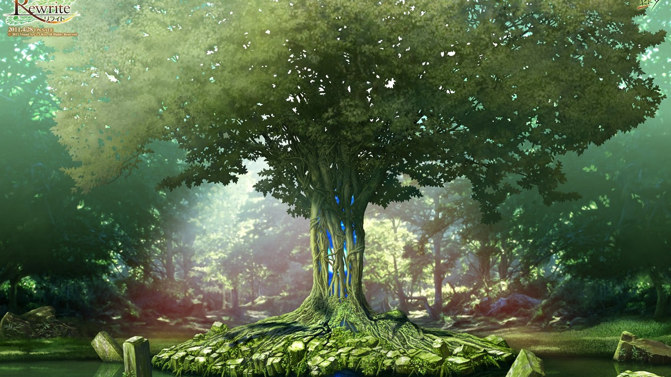 求1366x768高清壁纸,要一颗巨大的世界树的那种