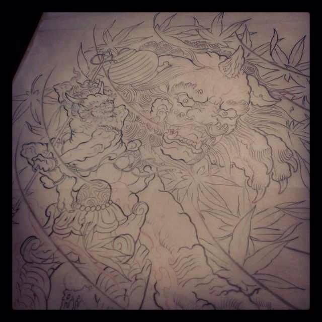 般若纹身手稿图案大全图片