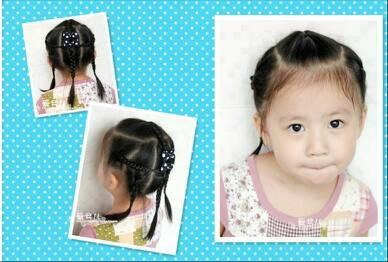 八岁女孩扎头发图片 求好看?式样图