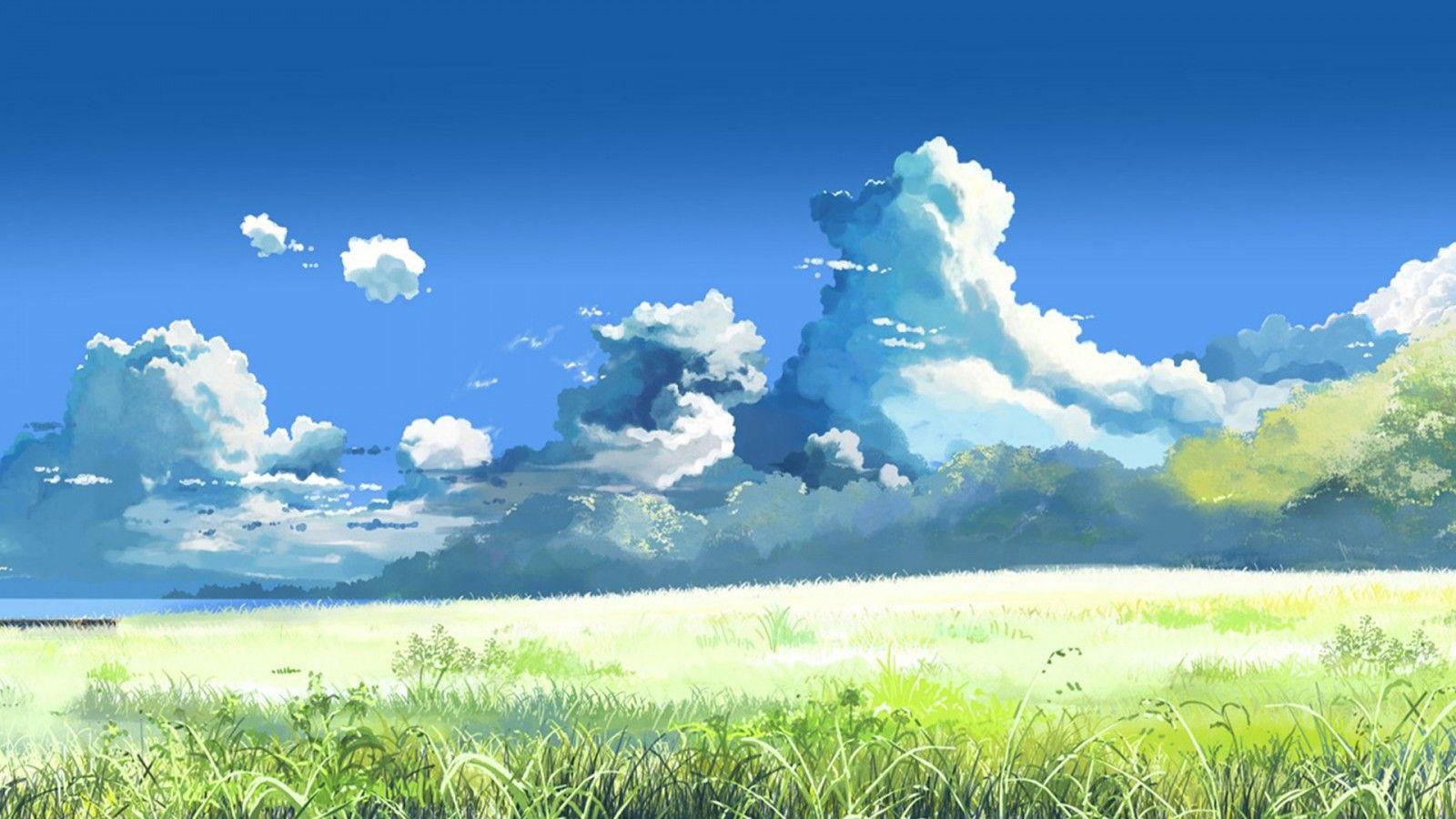 求xp经典蓝天白云草地桌面高清壁纸 1280 1024高清图片