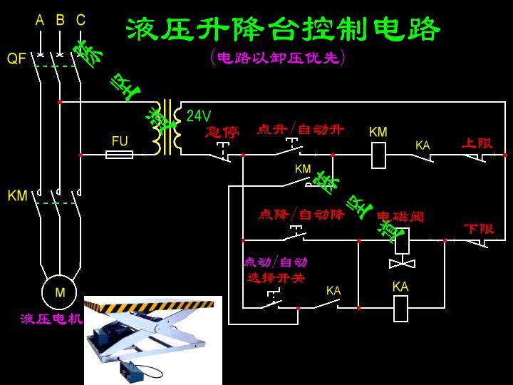 sjy系列液压升降机电路图.急求电路图.因为现在的线路图片