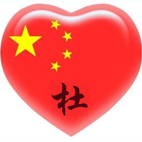 请高手设计一个带 杜 字的中国心头像?