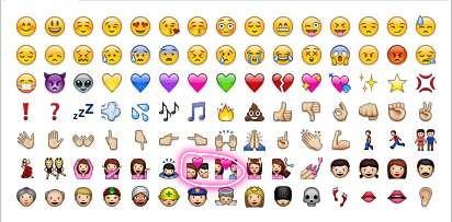 谁知道iphone自带emoji这两个表情是什么意思 对应文字给我一下图片