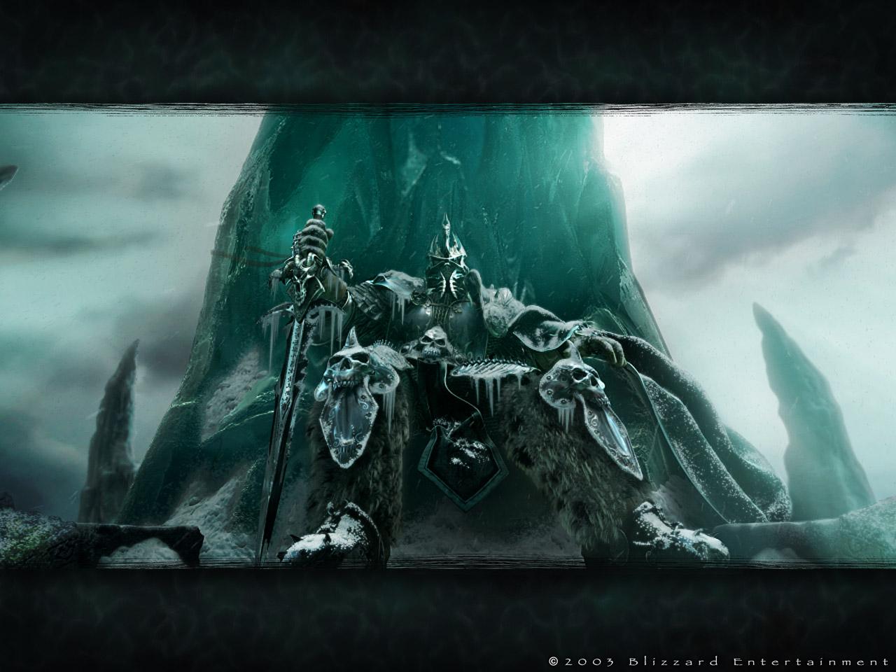 求魔兽世界巫妖王之怒的一张dk戴头盔的壁纸