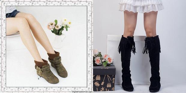 大腿粗小腿细的女生怎样配靴