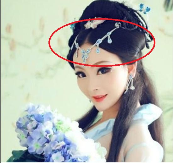 古代女子可以在头上缠绕一圈的发饰叫什么啊?图片
