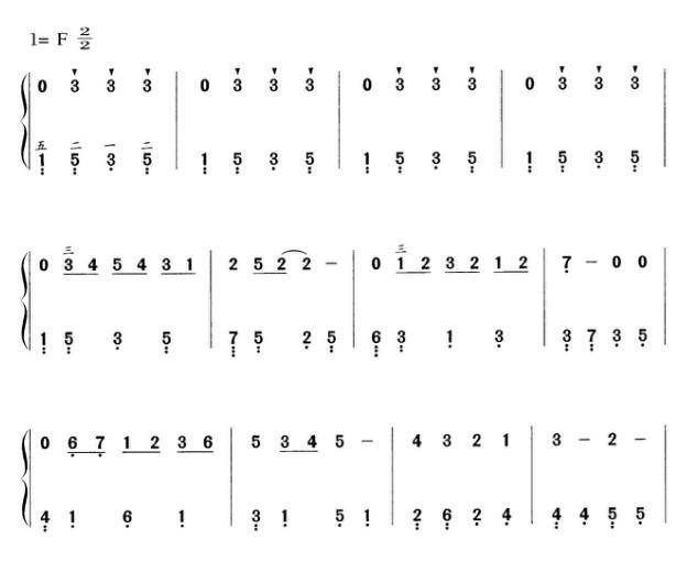 成都电子琴谱子简谱分享展示图片