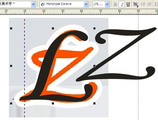 _这个l和z的组合是什么英文字体?