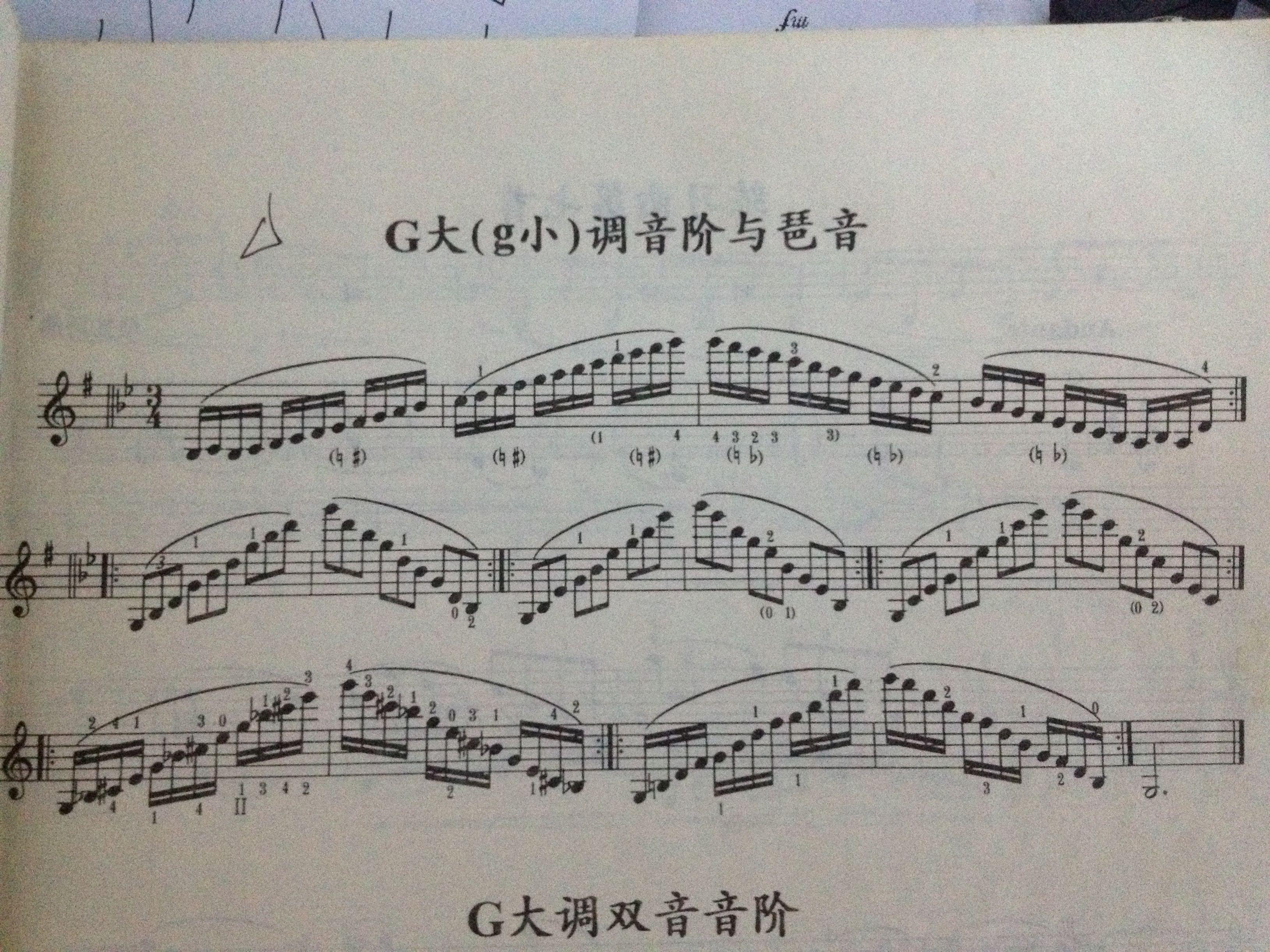 急求小提琴六级g大调音阶!图片