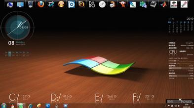 我的��)�z-g�-�d�9cc_怎样才能让我的电脑桌面变成这样?