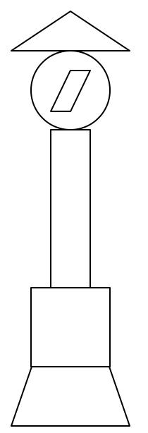 圆形长方形正方形梯形三角形组成的图片?图片