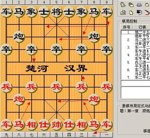 中国象棋红炮的最初位置图片