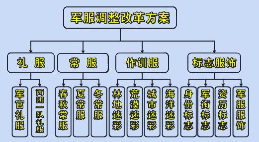 此次换发的07式军服共有礼服 常服 作训服 标志服饰四大类6图片
