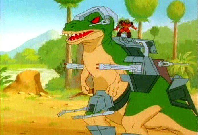 有一部骑着恐龙打仗的动画片是什么?图片