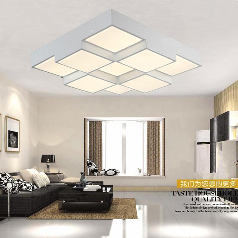 现代简约客厅装什么灯,房顶有点高图片