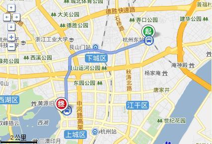 西湖到杭州东站地铁