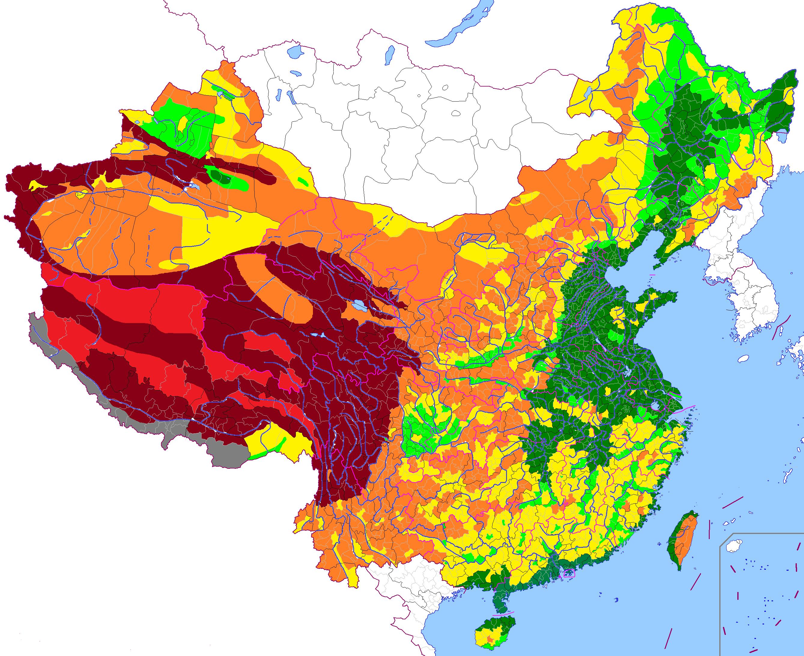 中国主要山脉的行政区划分布图片